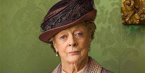 """Maggie Smith es Lady Violet en """"Downton Abbey"""""""