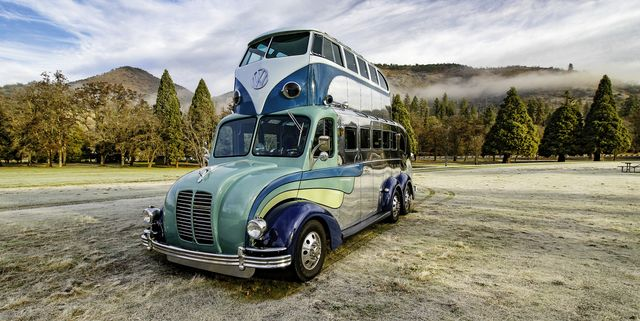 Check Out This Magic Double-Decker Deco Bus