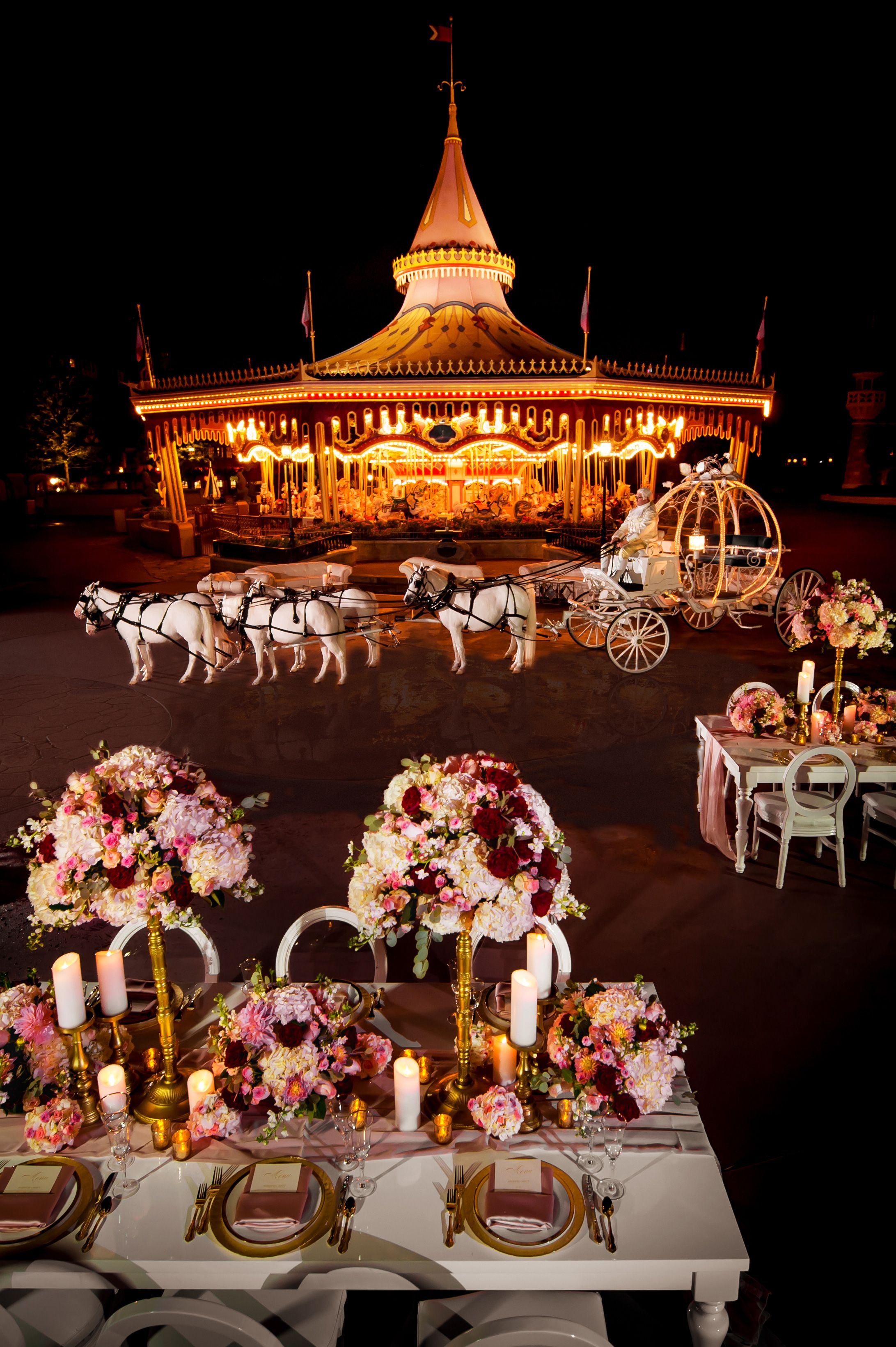 Disney nighttime wedding