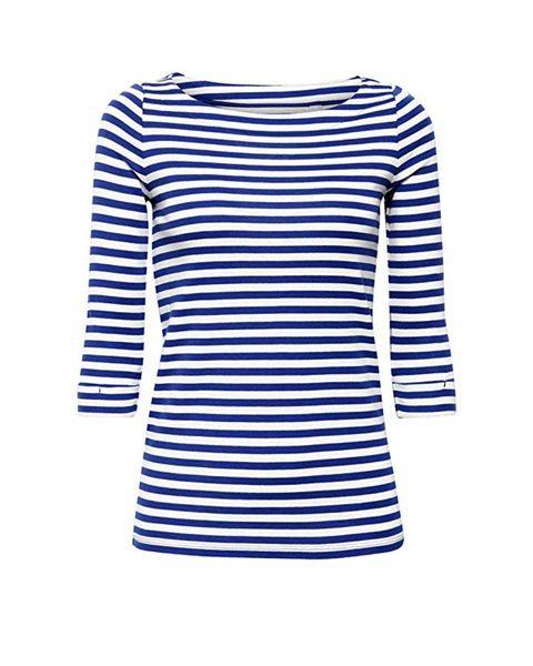 Clothing, Blue, Sleeve, White, T-shirt, Long-sleeved t-shirt, Cobalt blue, Outerwear, Neck, Electric blue,