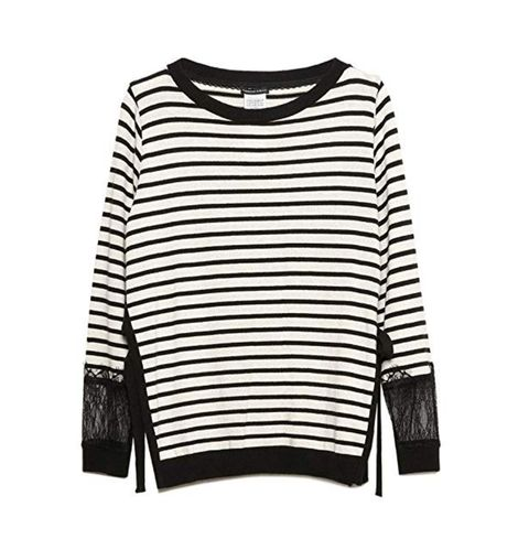 Clothing, White, Long-sleeved t-shirt, Black, Sleeve, T-shirt, Sweater, Outerwear, Top, Jersey,