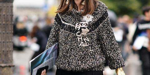 Clothing, Street fashion, Fashion, Outerwear, Sleeve, Coat, Shoulder, Fur, Overcoat, Neck,