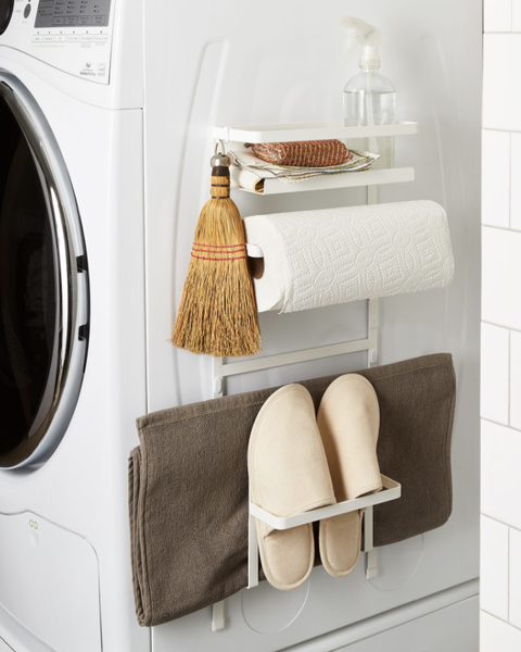 magnetic rack on laundry machine