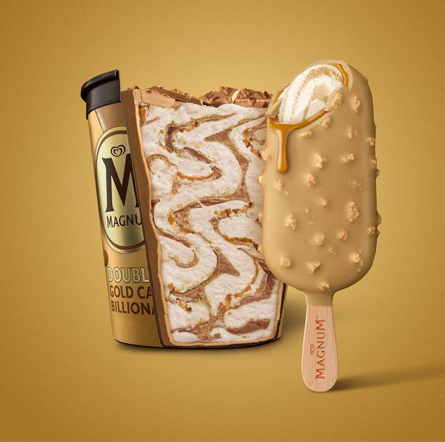 magnum gold double caramel billionaires shortbread ice cream