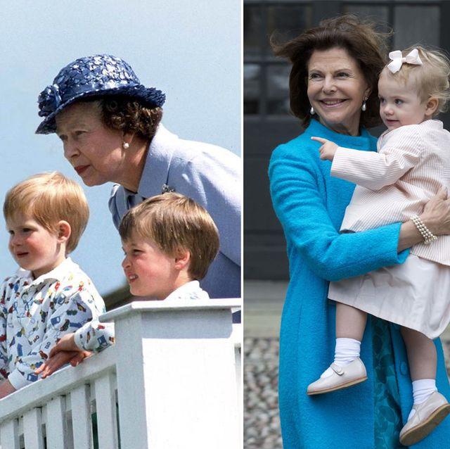 エリザベス女王とウィリアム王子、ハリー王子