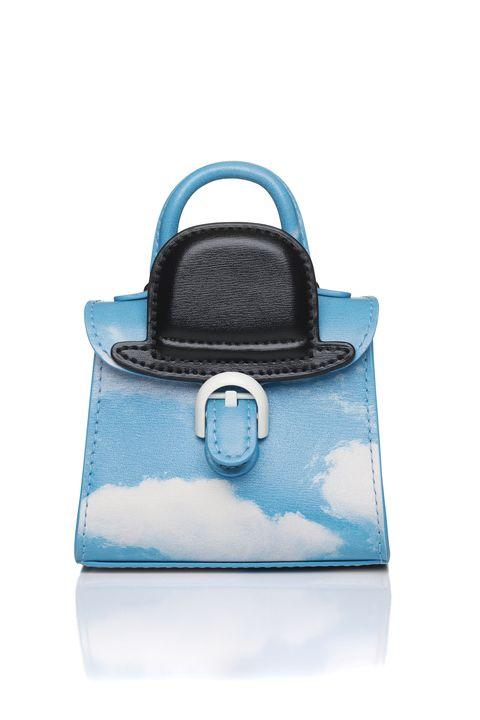 DELVAUXMagritte系列 雲朵黑禮帽牛皮吊飾