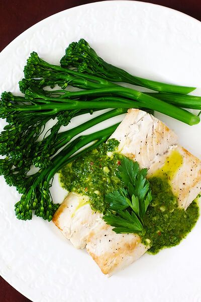 MAHI MAHI WITH CHIMICHURRI SAUCE