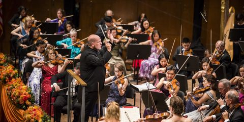 Orchestra, Music, Musician, Classical music, Event, Musical ensemble, Performance, Conductor, Bowed string instrument, Stage,
