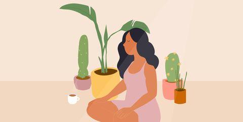 Cartoon, Illustration, Art, Organism, Plant, Houseplant, Graphics, Graphic design, Finger, Shoe,