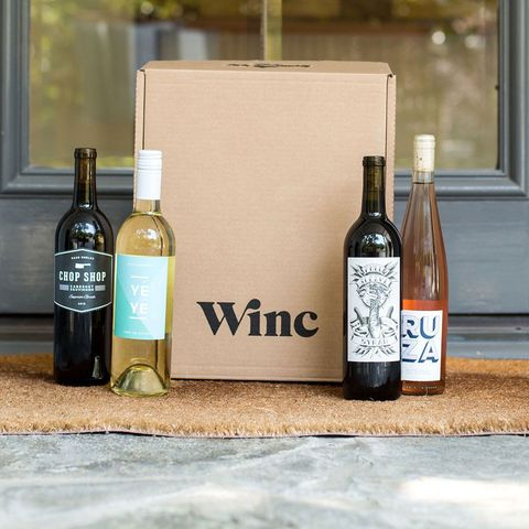 Winc wine delivery on a doorstep