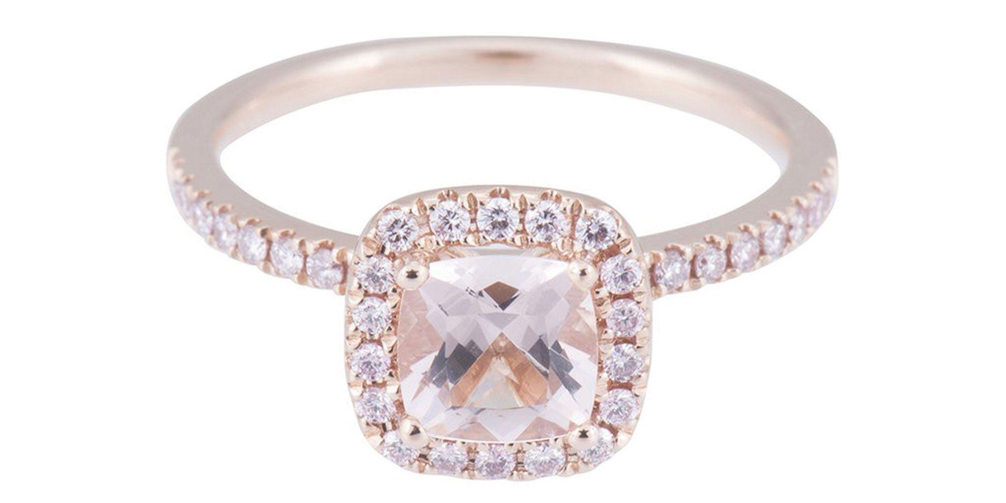 Millennial pink engagement ring