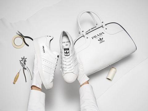プラダ、アディダス、スニーカー、コラボレーション、コラボ、コラボアイテム、Prada Superstar、Prada Bowling bag for adidas、Prada for adidas Limited Edition、ファッション