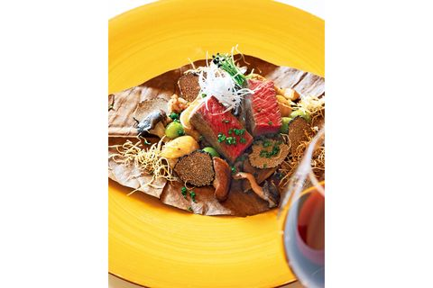abba resorts izu 坐漁荘 フレンチレストラン「やまもも」ディナーコース メインの肉料理の一例