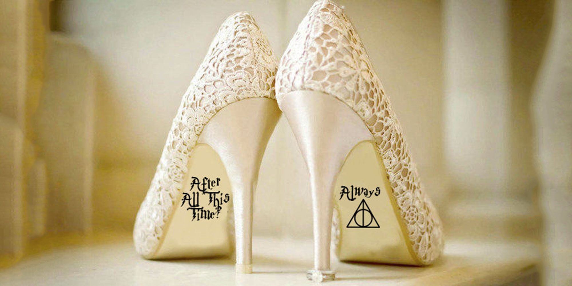 These Harry Potter Always Stickers For Your Wedding Shoes Are The Cutest Thing