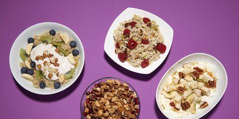 bowls of breakfast food