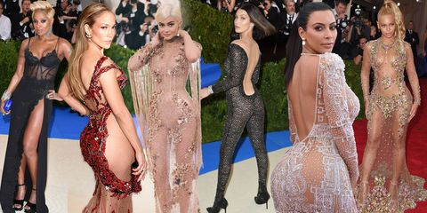 9e716acb The most revealing, nearly-naked dresses ever worn at the Met Gala