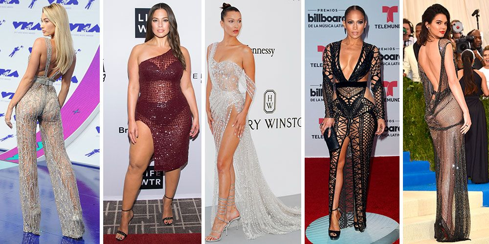The 30 most outrageously naked celebrity dresses and outfits worn in 2017