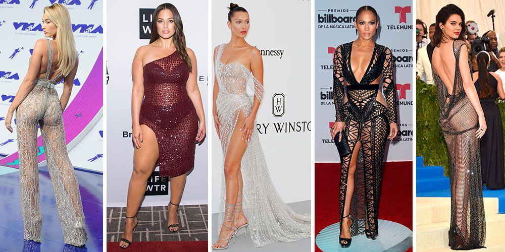 Most naked 2017 celebrity dresses