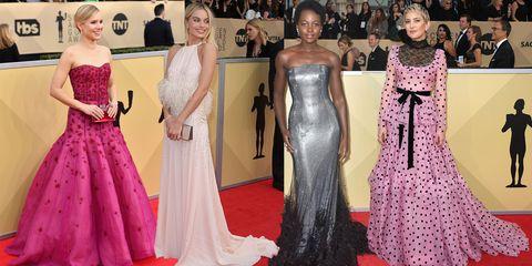 Dress, Fashion model, Red carpet, Gown, Clothing, Carpet, Fashion, Haute couture, Flooring, Shoulder,