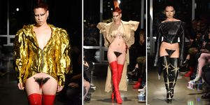 Vagina wigs Fashion Week
