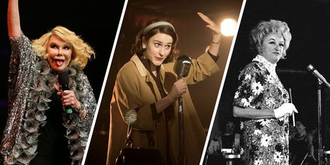 comedians who inspired the marvelous mrs maisel - phyllis diller and joan rivers