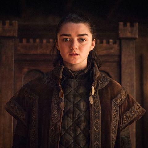 Maisie Williams as Arya Stark, Game of Thrones, season 7