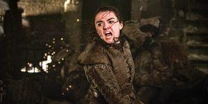 Maisie Williams as Arya Stark, Game of Thrones, season 8, episode 3