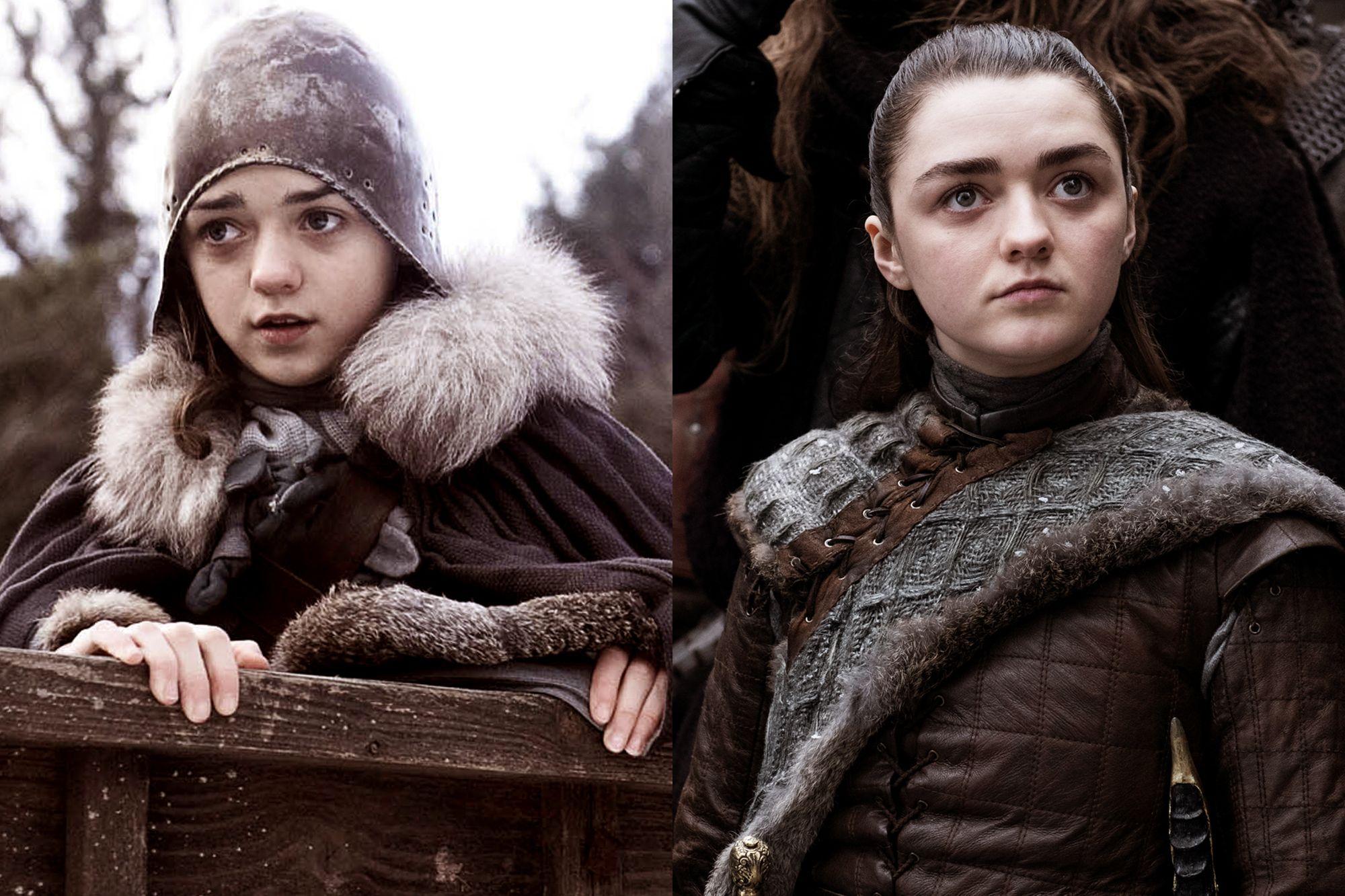 Maisie Williams as Arya Stark Season One to Season Eight.