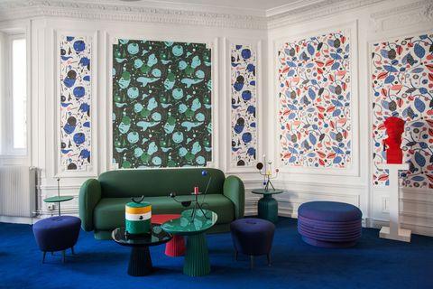 papiers peints quinsai au showroom maison dada paris