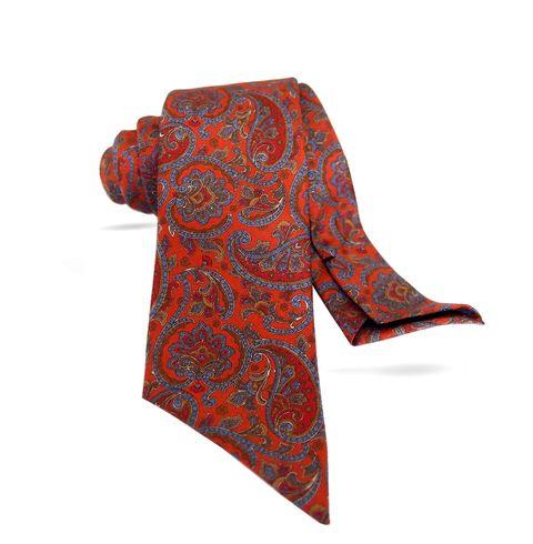 Orange, Pattern, Clothing, Paisley, Motif, Red, Visual arts, Design, Paisley, Art,