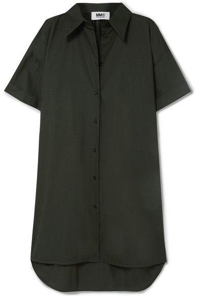 green Oversized cotton-poplin mini dress rachel friends
