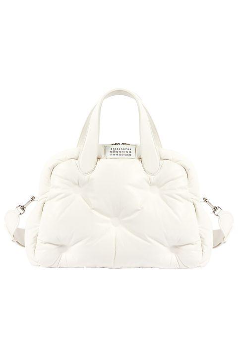 Bag, Handbag, White, Shoulder bag, Fashion accessory, Beige, Leather,