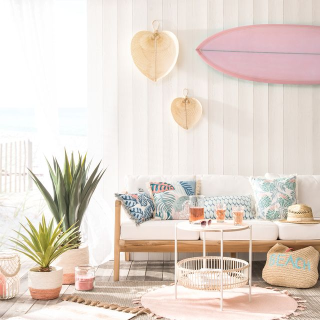 Room, Furniture, Pink, Living room, Interior design, Coffee table, Table, Turquoise, Yellow, Peach,