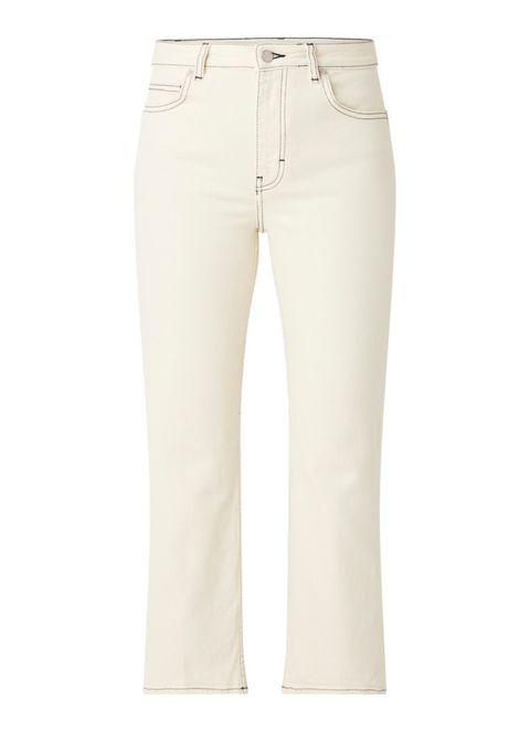 Maje Purete high waist straight fit jeans met contraststiksel