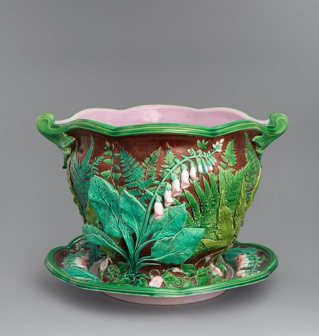 what is majolica examples of majolica pottery