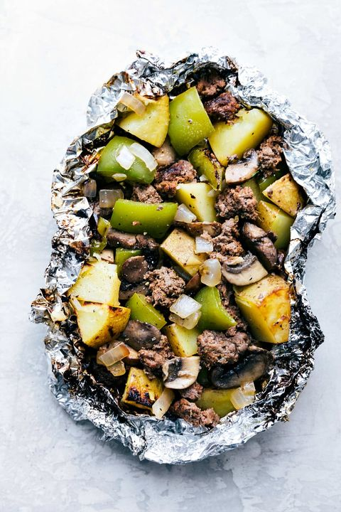 make ahead camping meals philly cheesesteak