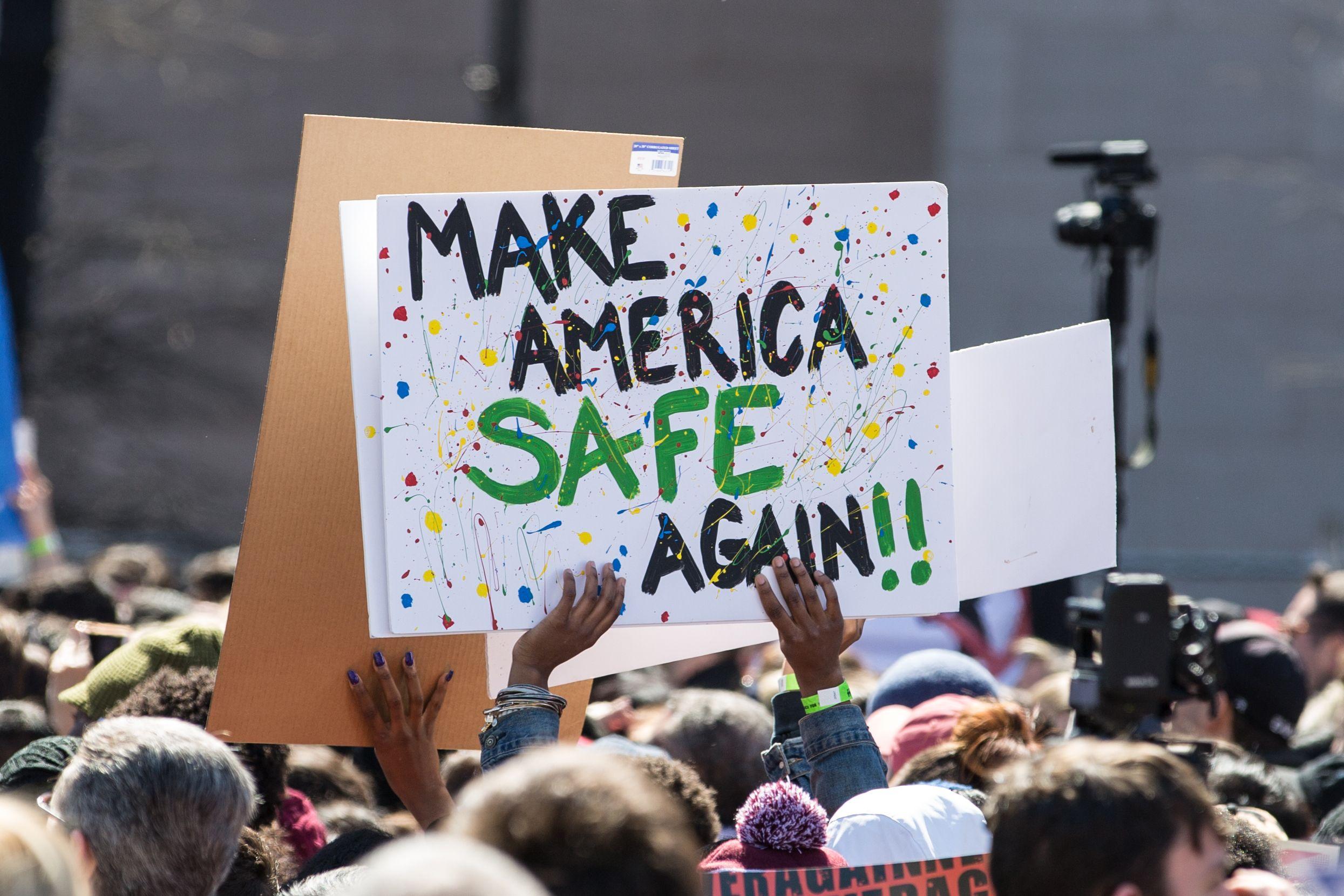 make america safe again poster