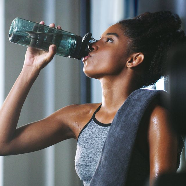 make sure you stay hydrated throughout your session