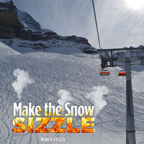 make the snow sizzle