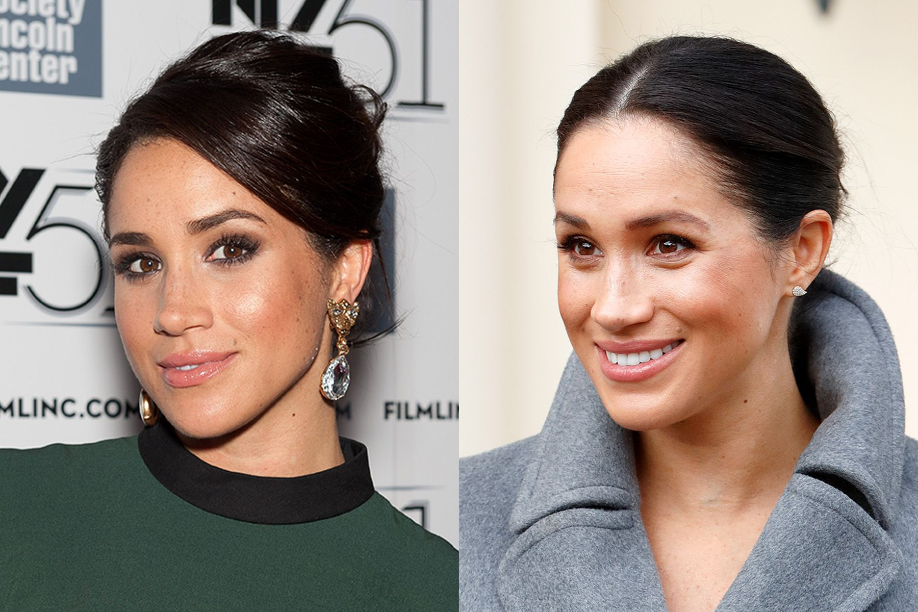Meghan Markle Before Meghan's royal days, she was best known for her role as Rachel in Suits and never shied away from a smokey eye on the red carpet. These days, the Duchess opts for a more natural and simple look.