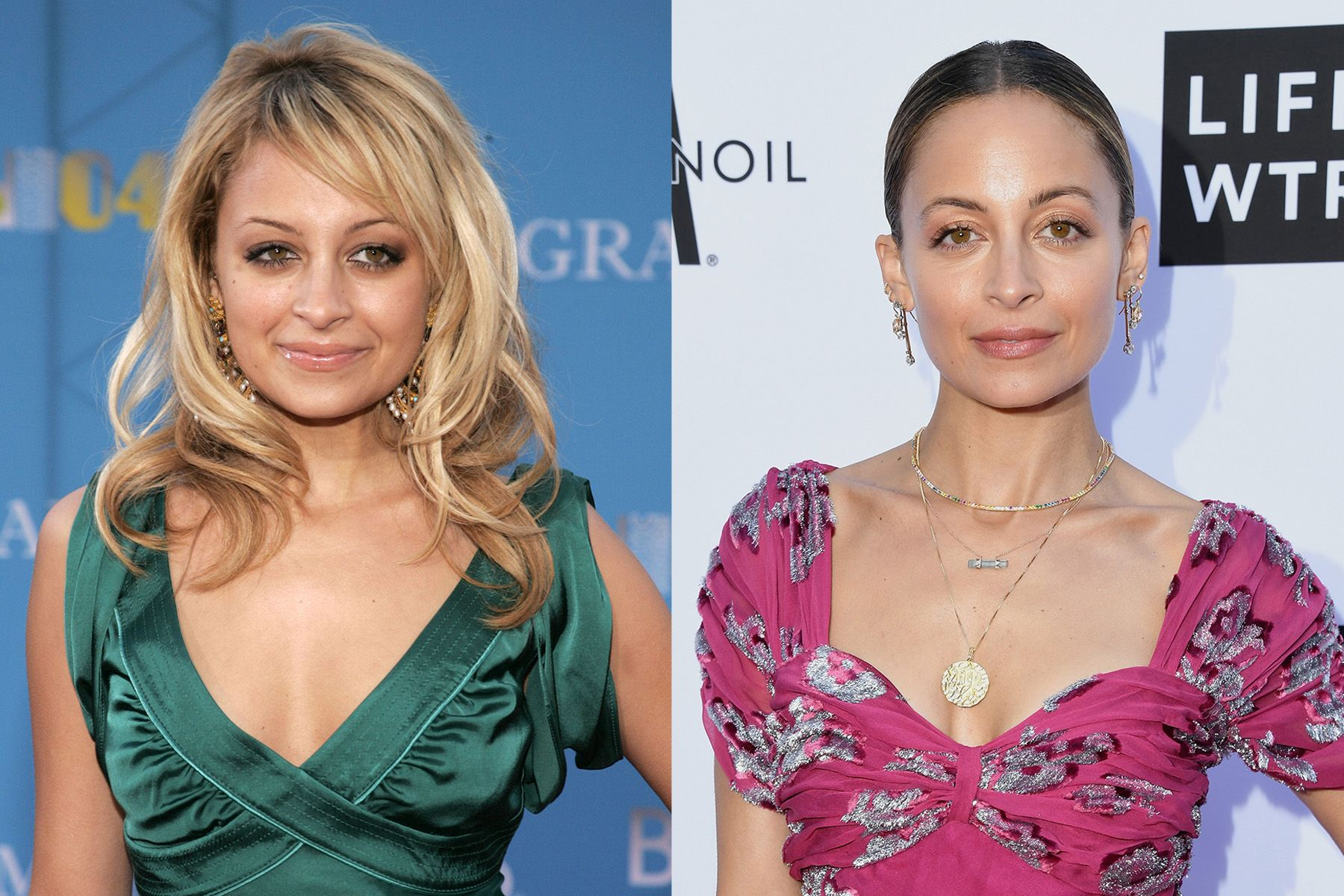 Nicole Richie Back when Nicole was starring on The Simple Life with Paris Hilton, her look was bigger, blonder, and trendier. But in the years since then, not only is her lifestyle dramatically tamer (she's married and a mom of two!), but her beauty has as well.