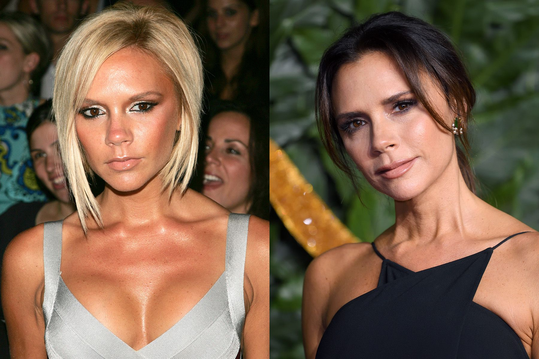 Victoria Beckham Given that Victoria's gone from being a Spice Girl to a fashion designer over the course of her career, it's no surprise that her beauty has evolved as well. The mogul has as of late swapped out the blunt bob she rocked for so many years in favor for a chic long style.