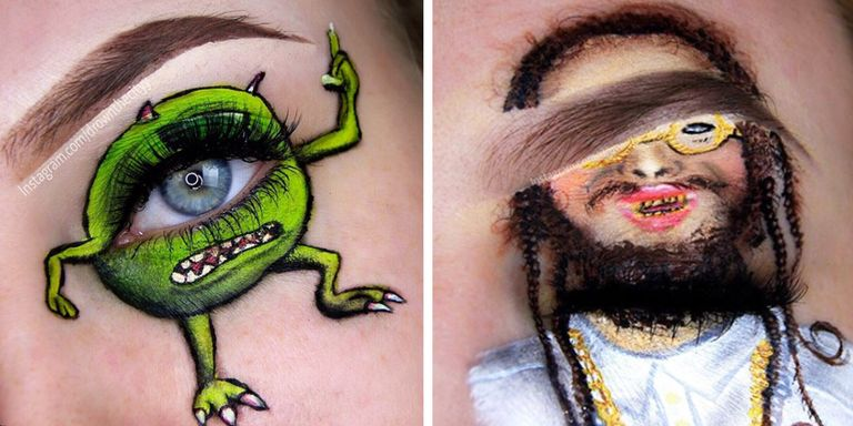 Meet The Instagram Makeup Artist Who Paints Famous People On Her Eyes - Drownthecityy -8547