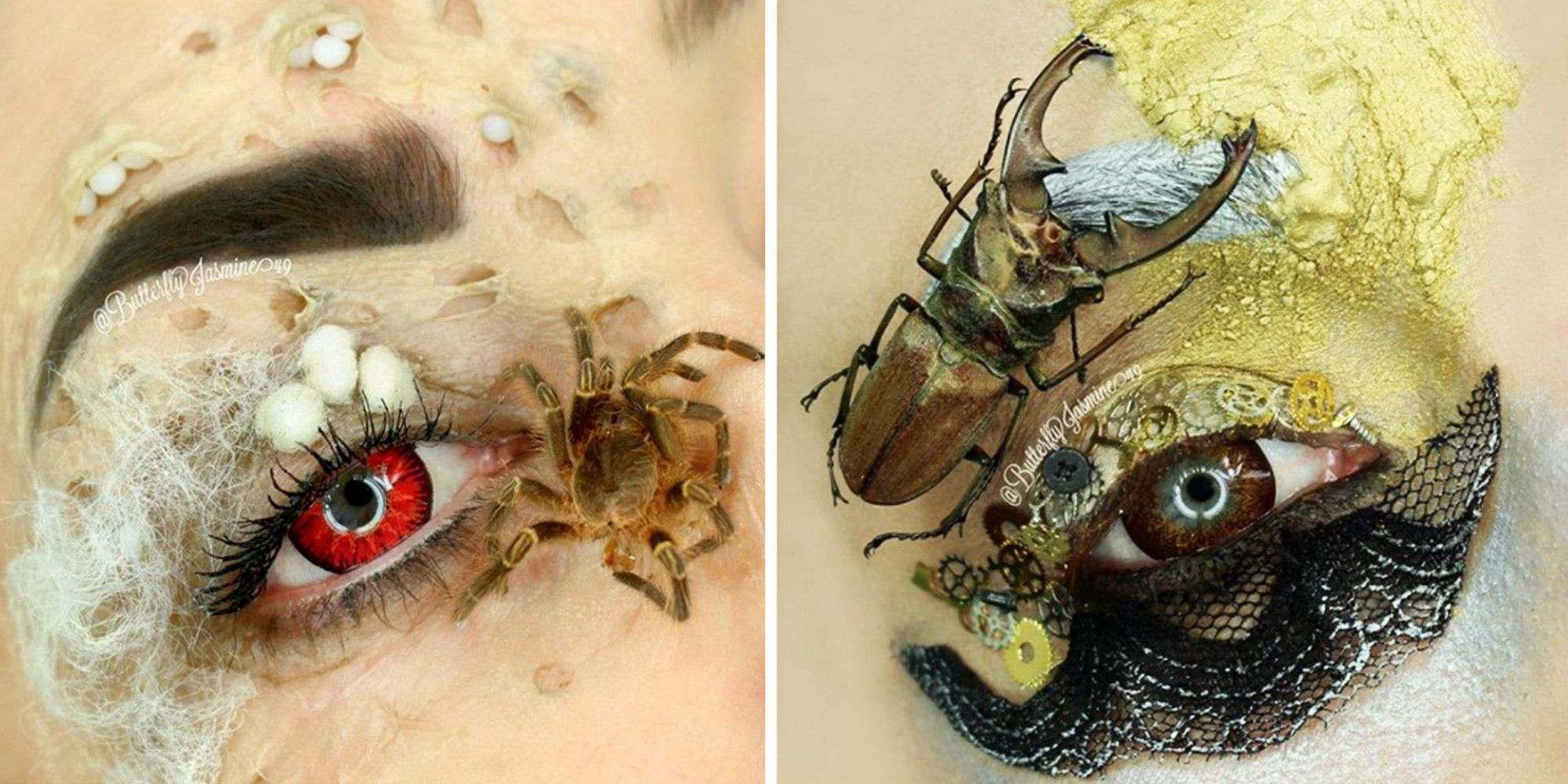 This Makeup Artist Uses Real Bugs on Her Face and We're Going to Cry