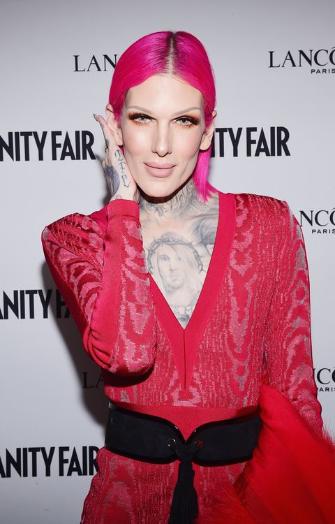 jeffree star  vanity fair and lancome toast to the hollywood issue