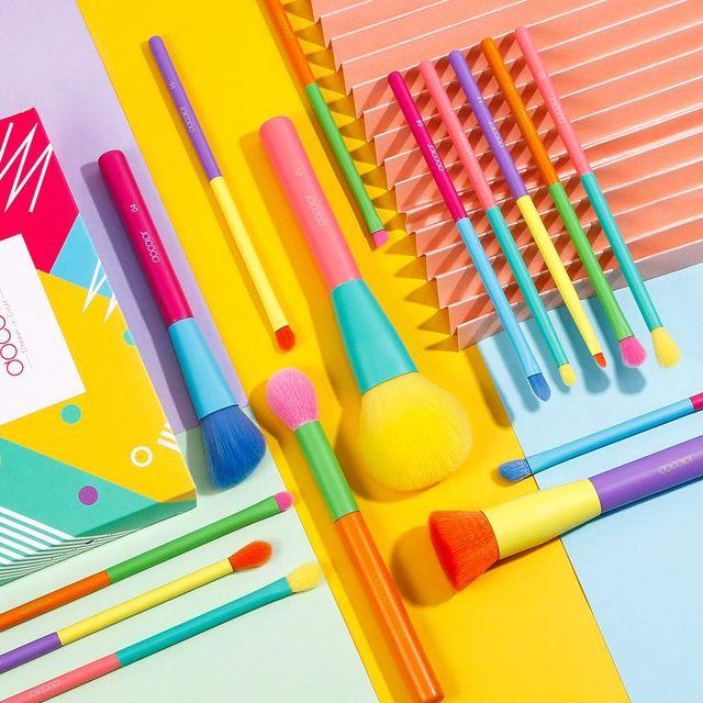 docolor colorful makeup brush set