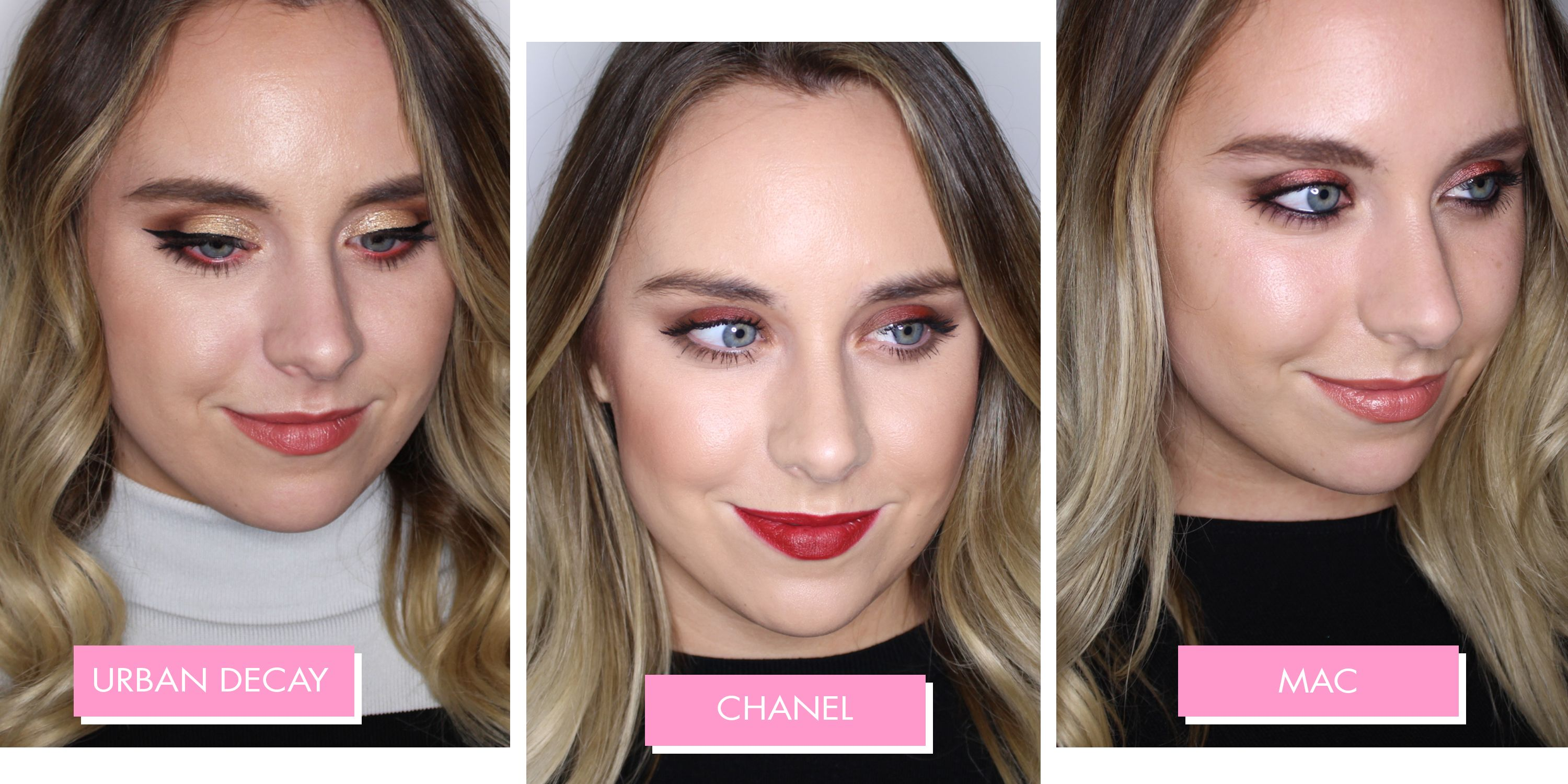 I had a makeover at 10 different beauty counters, and this is what they all looked like...