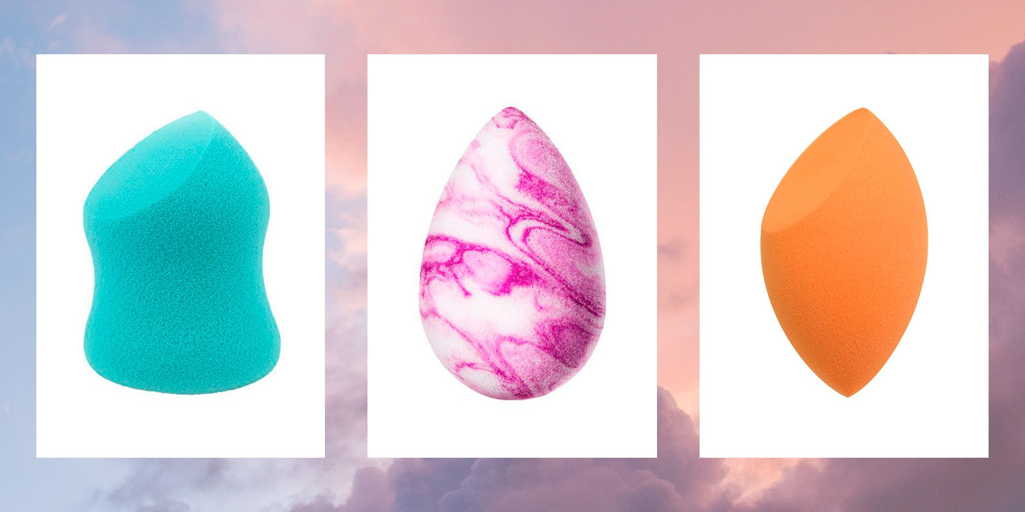 Here's what all the different shaped makeup sponges actually do