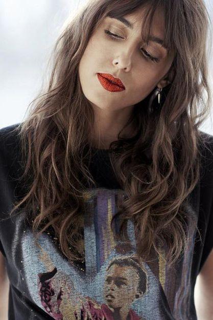Hair, Lip, Face, Hairstyle, Beauty, Eyebrow, Long hair, Blond, Skin, Chin,