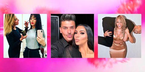 Face, Pink, Collage, Selfie, Photography, Lip, Fun, Art, Black hair, Photomontage,